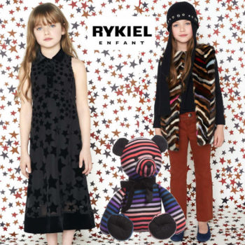 Sonia Rykiel Enfant Girls Striped Fur Jacket